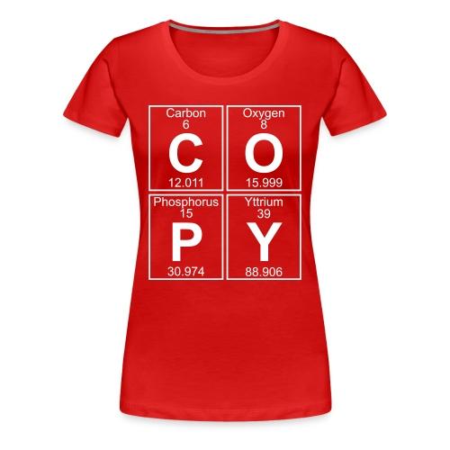 C-O-P-Y (copy) - Full - Women's Premium T-Shirt