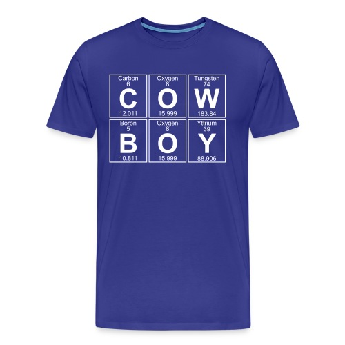 C-O-W-B-O-Y (cowboy) - Full - Men's Premium T-Shirt