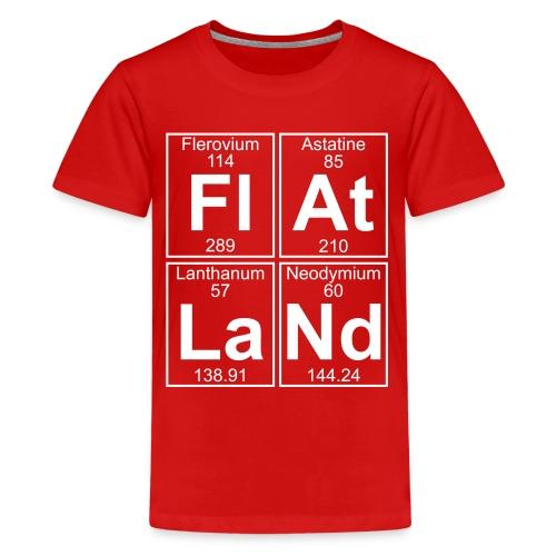 Fl-At-La-Nd (flatland) - Full - Teenage Premium T-Shirt