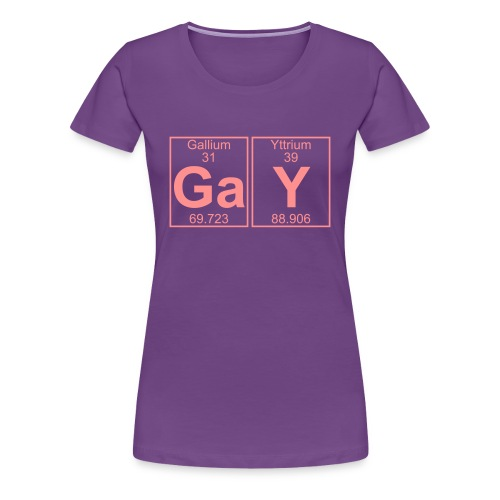 Ga-Y (gay) - Full - Women's Premium T-Shirt