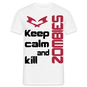 Keep calm and kill zombies mens - Men's T-Shirt