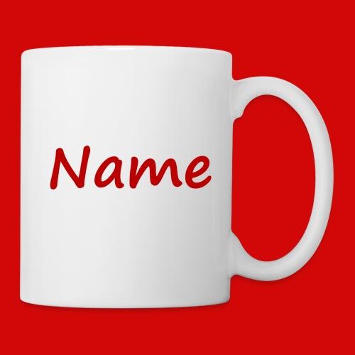 Tasse mit Namen 3 Seiten bedruckt Schriftart wählbar - Tasse