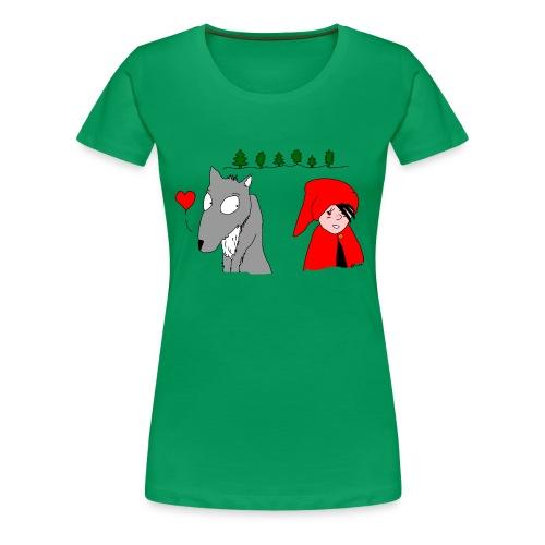 Rotkäppchen und böse Wolf - Frauen Premium T-Shirt