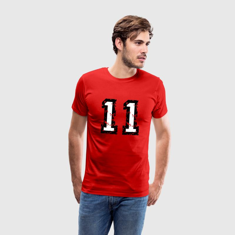 The Number Eleven - No. 11 (two-color) white T-Shirts - Men's Premium T-Shirt