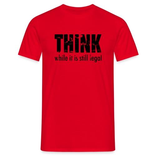 Think while - schwarz - Männer T-Shirt