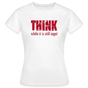 Think while - rot - Frauen T-Shirt