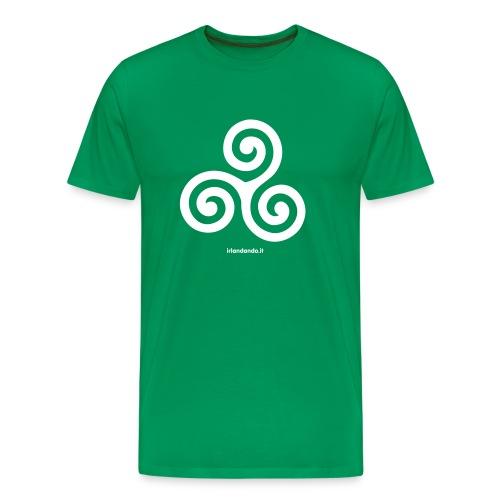 T-Shirt Triskell - Uomo - Maglietta Premium da uomo