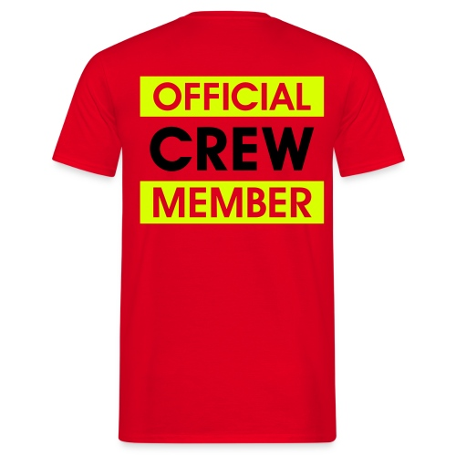 Shirt: Official Crew Member - Mannen T-shirt