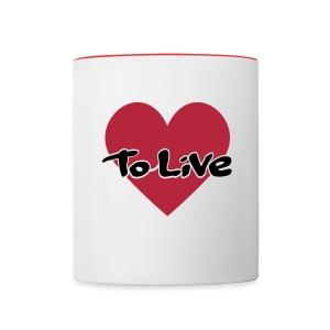 Love to Live -muki - Kaksivärinen muki