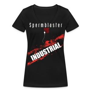 Spermblaster industrial - Women's Organic V-Neck T-Shirt by Stanley & Stella