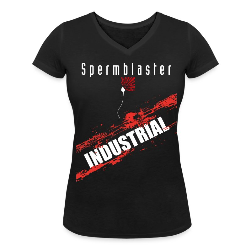 Spermblaster industrial - Women's Organic V-Neck T-Shirt by Stanley & Stella