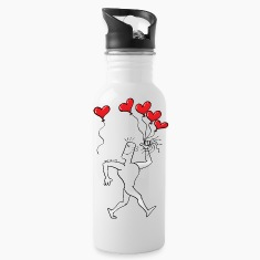 A New Heart Balloon is in the Air Bottles & Mugs