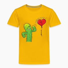 Cactus Flirting with a Heart Balloon Shirts