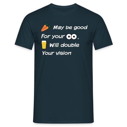 Wortels en ogen - Mannen T-shirt