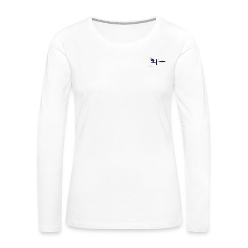 Frauen Langarm-Shirt, ROYC klein/einfarbig Flock-Druck - Frauen Premium Langarmshirt