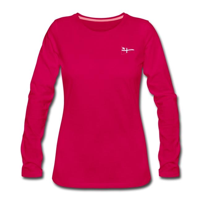 Frauen Langarm-Shirt, ROYC klein/einfarbig Flock-Druck