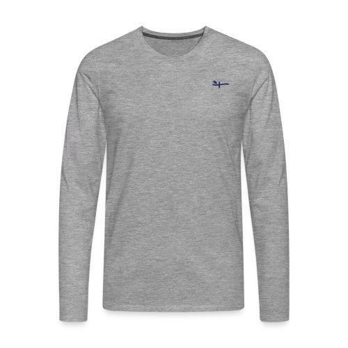 Männer Langarm-Shirt, ROYC klein/einfarbig Flock-Druck - Männer Premium Langarmshirt