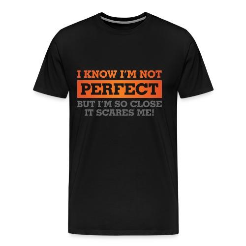 'Perfection' Tee - Gray/Orange - Men's Premium T-Shirt