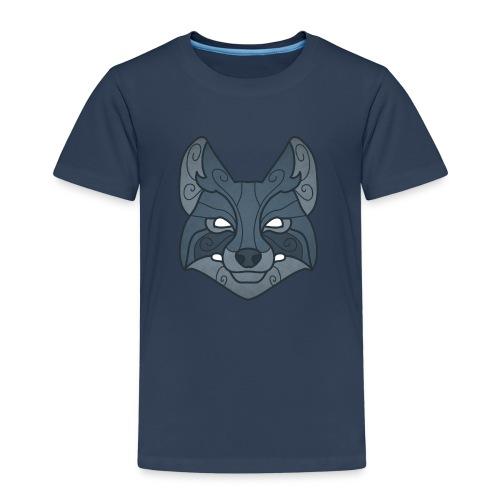 Tribal wolf mask - Kids' Premium T-Shirt