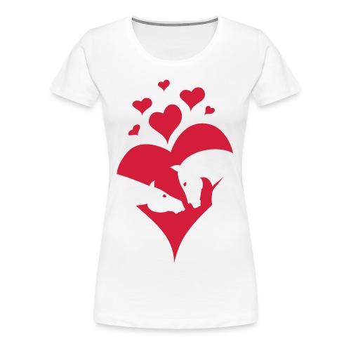 Pferde Liebe Valentinstag - Frauen Premium T-Shirt