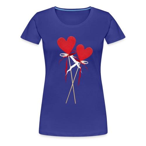 Zwei Herzen lollipops  - Frauen Premium T-Shirt