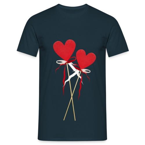 Männer süßes Herz - Männer T-Shirt