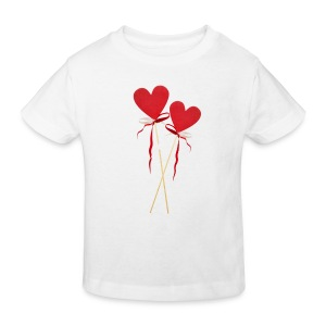 Zwei Lollipops Herzen - Kinder Bio-T-Shirt