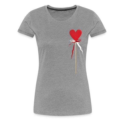 Herz Lollipops rot frauen T-Shirt - Frauen Premium T-Shirt