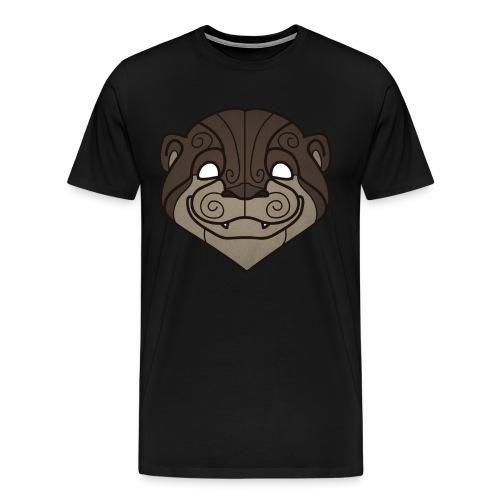 Tribal Otter mask - Men's Premium T-Shirt