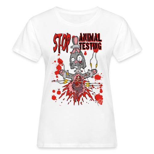 Stop Animal Testing Bunny - Frauen Bio-T-Shirt