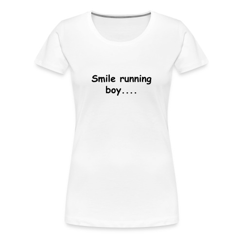 Smile running boy - Women's Premium T-Shirt