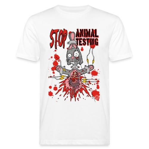 Stop Animal Testing Bunny - Männer Bio-T-Shirt