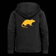 Pullover & Hoodies ~ Frauen Premium Kapuzenjacke ~ Rattenjacke