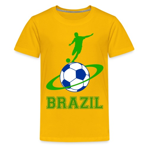 Brazil sport 03 - Teenage Premium T-Shirt