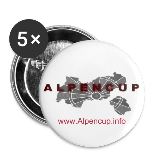 Alpencup Buttons - Buttons groß 56 mm (5er Pack)