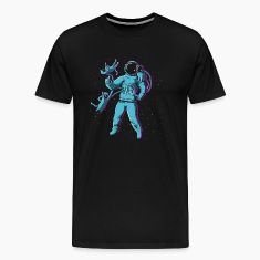 Noir Space Catboy Tee shirts