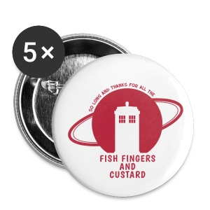 Fish Fingers and Custard - Buttons mittel 32 mm