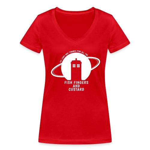 Fish Fingers and Custard - Frauen Bio-T-Shirt mit V-Ausschnitt von Stanley & Stella
