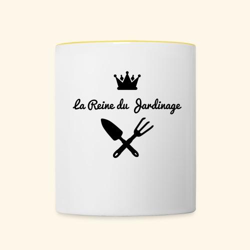 La reine du jardinage - Mug contrasté