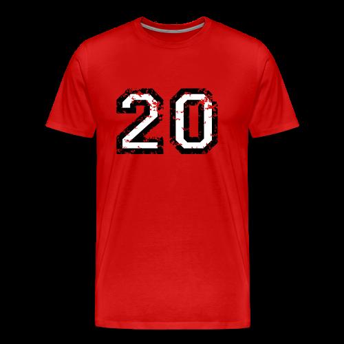 Nummer 20 T-Shirt (Herren Rot) - Männer Premium T-Shirt