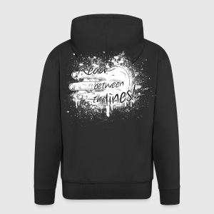 read between the lines Hoodies & Sweatshirts - Men's Premium Hooded Jacket