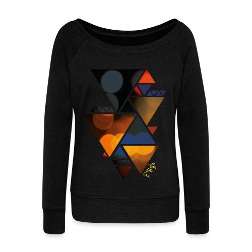 Tuned Triangles Women - Women's Boat Neck Long Sleeve Top