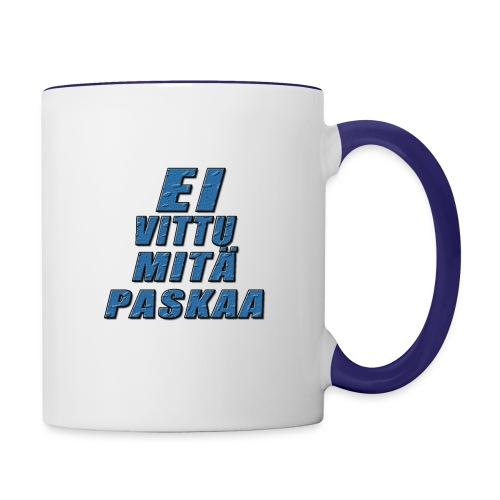 Ei V#ttu mitä p#skaa-kahvikuppi - Kaksivärinen muki