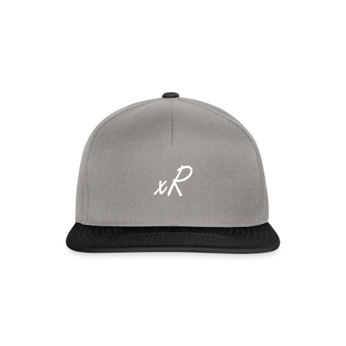 xR Grey and Blacx Snapback - Snapback Cap
