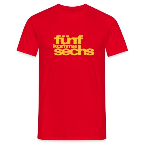 5,6 T-Shirt 190 signalrot - Men's T-Shirt