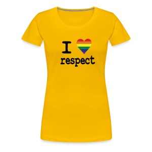 I LOVE Respect - Vrouwen Premium T-shirt