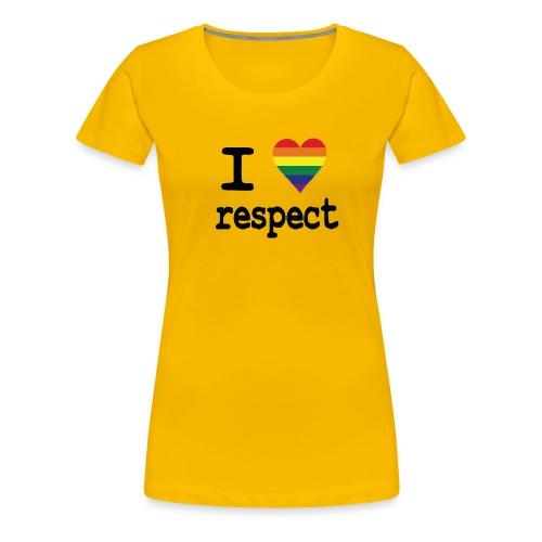 I LOVE Respect - Vrouwen Premium T-shirt