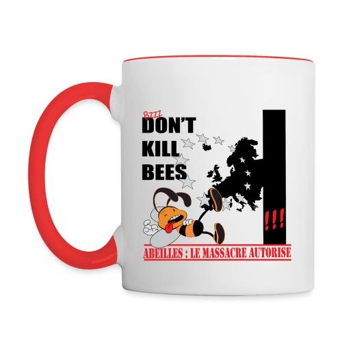 MUG bicolore don't kill bees - Mug contrasté