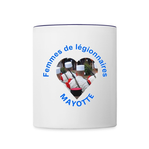 Mug bicolore Mayotte - Mug contrasté