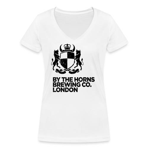 BTH Logo, Black on White - Women's - Women's Organic V-Neck T-Shirt by Stanley & Stella